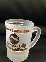 SEA WORLD of Texas souvenir SHOT GLASS miniature Frosted Beer Mug Penguins