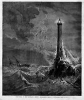 BISHOP'S ROCK LIGHTHOUSE, SHIPWRECK OF THE SCHILLER