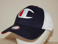 Champion Mens Big C Trucker Cap / Hat Classic Twill Snapback Mesh Ships From USA