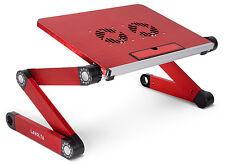 Lavolta Notebook Laptop Ständer Tisch Kühler 2x Lüfter - Rot