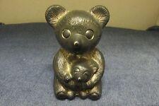 New listing Godinger Silver Art Co Japan Silver Plate Mama Bear+Cub Nursery Piggy Still Bank