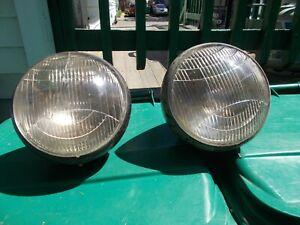 Pr vintage headlights 1935 Graham. Rare Low starting bid No reserve.