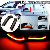 2X Dynamic LED Wing Mirror Led Indicator Turn Signal Light For VW Golf 5 6  DY