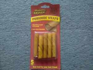 Rawhide/Porkhide rolls with Sweet Potato 5 rolls per pack  Buy 2 get 1 FREE