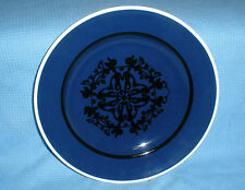"HC Andersen Denmark Dessert Salad PLATE 8 ⅜"" Nils Thorsson Black on Blue #B2"