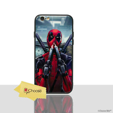 "Tempered Glass Deadpool Case/Cover For Apple iPhone 8 (4.7"") / Sniff Guns"