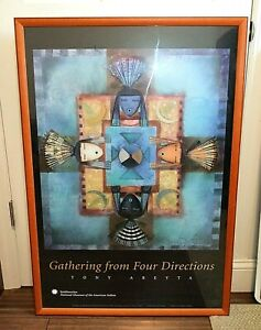 TONY ABEYTA Navajo Artist Gathering from Four Directions 24x36 Smithsonian Print
