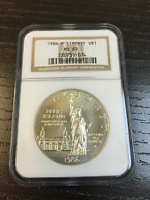 1986-P Statue of Liberty Commemorative Silver Dollar - MS-69 NGC