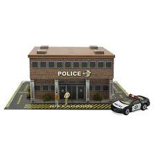 1/64 Slot Car HO Police Station Diorama Building Kit Fits AFX, Aurora Race Track