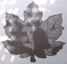 Tischset Platzset 2tlg Motiv Blatt in Silber abwischbar / Dekoration NEU 45cm