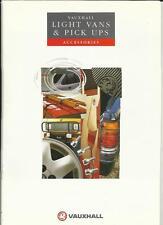 VAUXHALL LIGHT VANS AND PICK UPS ACCESSORIES SALES BROCHURE 1991 1992