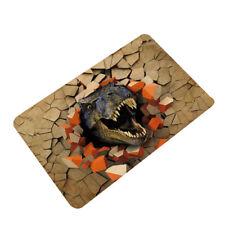 3D Dinosaur Printed Doormat Anti Slip Water Absorption Floor Mat Carpet 60x40cm