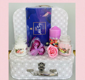 LADIES LARGE CANDLE PAMPER HAMPER GIFT SET BOX FOR HER BIRTHDAY FRIEND MUM WIFE
