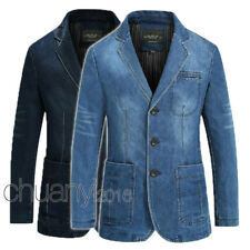 2017 Spring Men slim Jeans denim suits jacket Casual Blazer tops jacket outwear