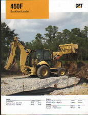 "Caterpillar ""450F"" Tractor Backhoe Loader Brochure Leaflet"