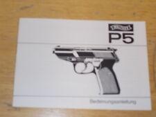 Bedienungsanleitung Walther P5 , Ausführung Weiss