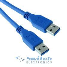 USB 3.0 tipo A macho a macho Cable de enchufe plomo - 50cm a 5m