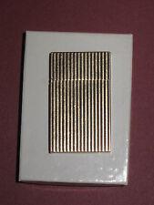 "Rare Vintage Zippo 14K Ribbed Gold Ladies Lighter- Flip Top, 2 1/8""x1 1/4""x7/16"""