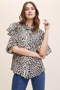 Lily and Lionel Leopard Blouse Shirt