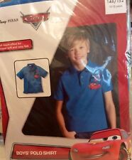 Disney Pixar Cars Short Sleeve Polo Shirt 10-12 Years.