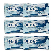 MEG - Military Energy Gum | 100mg caffeine pc | Arctic Mint 6 Pack (30 Count)