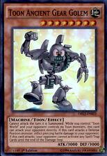 3x Yugioh DRL2-EN022 Toon Ancient Gear Golem Super Rare 1st Edition Card