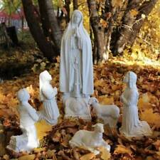 Mary Statue Our Lady of Fatima Children Sheep 24 inch Garden Indestructible 6pc