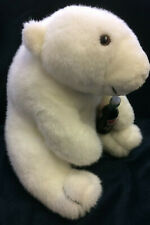 "Coca Cola Coke Large Plush Polar Bear 13"" Sutffed Animal w Bottle Vintage 1993"