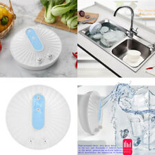 Mini Ultrasonic Dishwasher Portable USB Dishwasher High Pressure Water Blue
