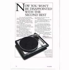 1986 Linn Products AXIS Turntable Stereo Hi-Fi Vtg Print Ad