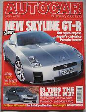 AUTOCAR 19/2/2003 featuring Bristol Blenheim, Porsche 911 C4S, Volvo CX90, BMW