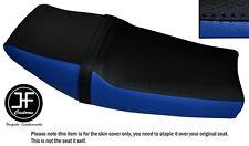 BLACK AND ROYAL BLUE VINYL CUSTOM FITS DUCATI 750 SPORT SS 87-90 DUAL SEAT COVER