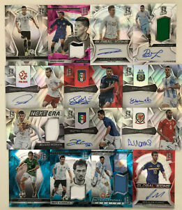 SPECTRA SOCCER 2016/17 BASE Autograph Patch shirt relic pick choose from menu
