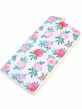 SUMMERY FLORAL PRINT WOMENS LONG WALLET
