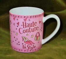 """WHITTARD OF CHELSEA Pink Haute Couture In Style 3 1/4"""" Mug NEW"""