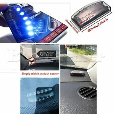 Car Offroad Interior Solar Power Burglar Alarm Anti-theft Strobe Light Blue 6LED