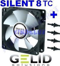 VENTOLA SILENZIOSA per CASE PC 80mm GELID SILENT TC 8 FAN 80 3 PIN + GOMMINI 12V