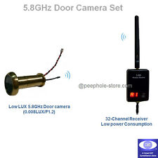 5.8G Wireless Home Door Camera with 32 CH Hidden Spy Receiver NTSC PAL CCTV