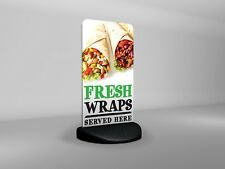 Fresh Wraps Served Here Eco Flex 2 Pavement Sign ***PRINTED & DELIVERED***