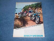 "1968 Harley-Davidson Sportster Vintage Motorcycle Ad ""A Bold New Challenge..."""