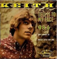 """KEITH """"TELL IT TO MY FACE"""" POPCORN 60'S EP MERCURY 126.220"""