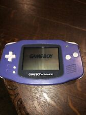 Gameboy Advance AGB-001 Indigo Purple Tested Working And Clean
