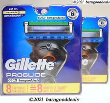 GILLETTE PROGLIDE 5 CARTRIDGES 2 - 8 PACKS TOTAL 16 CART. GENUINE USA NEW SEALED