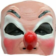 Funny Mime Clown Latex Half Face Mask Nose Adult Halloween Costume Accessory