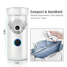 Pocket Mini Nebuliser Portable Micro Mesh Air Nebulizer Rechargeable & Extras