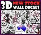 3D Removable Wall Sticker decals Home Decor Decoration kids Room Girls Wallpaper