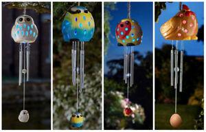 Novelty Animal Garden Wind Chime Solar Colour Changing LED Light Garden Ornament
