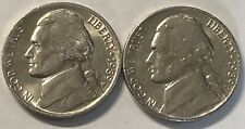 1989 P and D 2 Coin Jefferson Nickel Set In Grest Condition