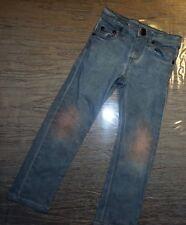 Jeans pantalon fille marque IKKS Slim fit gris-bleu/rose 5 ans