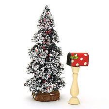 Christmas Fairy Garden Mail Box, Red & White Polka Dot, Holly Leaf, Fairy Mail